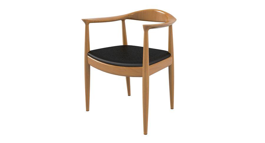 Cadeira redonda por Hans Wegner royalty-free 3d model - Preview no. 7