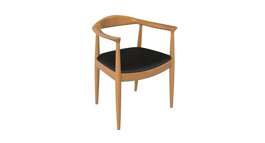 Cadeira redonda por Hans Wegner royalty-free 3d model - Preview no. 4