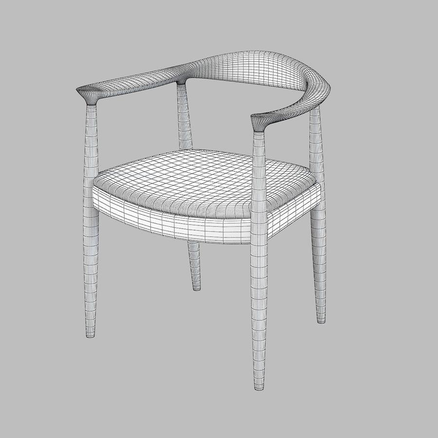 Cadeira redonda por Hans Wegner royalty-free 3d model - Preview no. 11