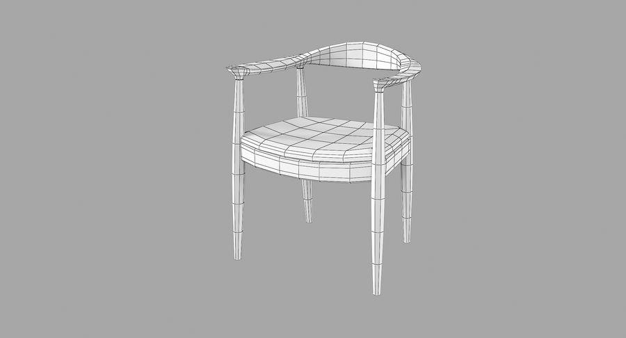 Cadeira redonda por Hans Wegner royalty-free 3d model - Preview no. 9