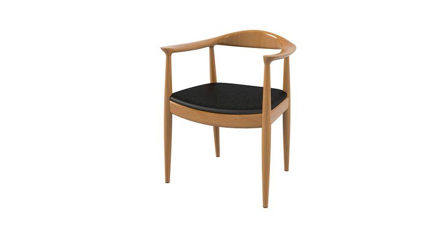 Cadeira redonda por Hans Wegner royalty-free 3d model - Preview no. 3