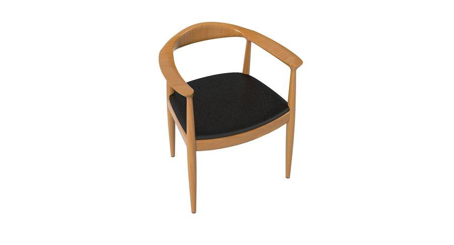 Cadeira redonda por Hans Wegner royalty-free 3d model - Preview no. 8