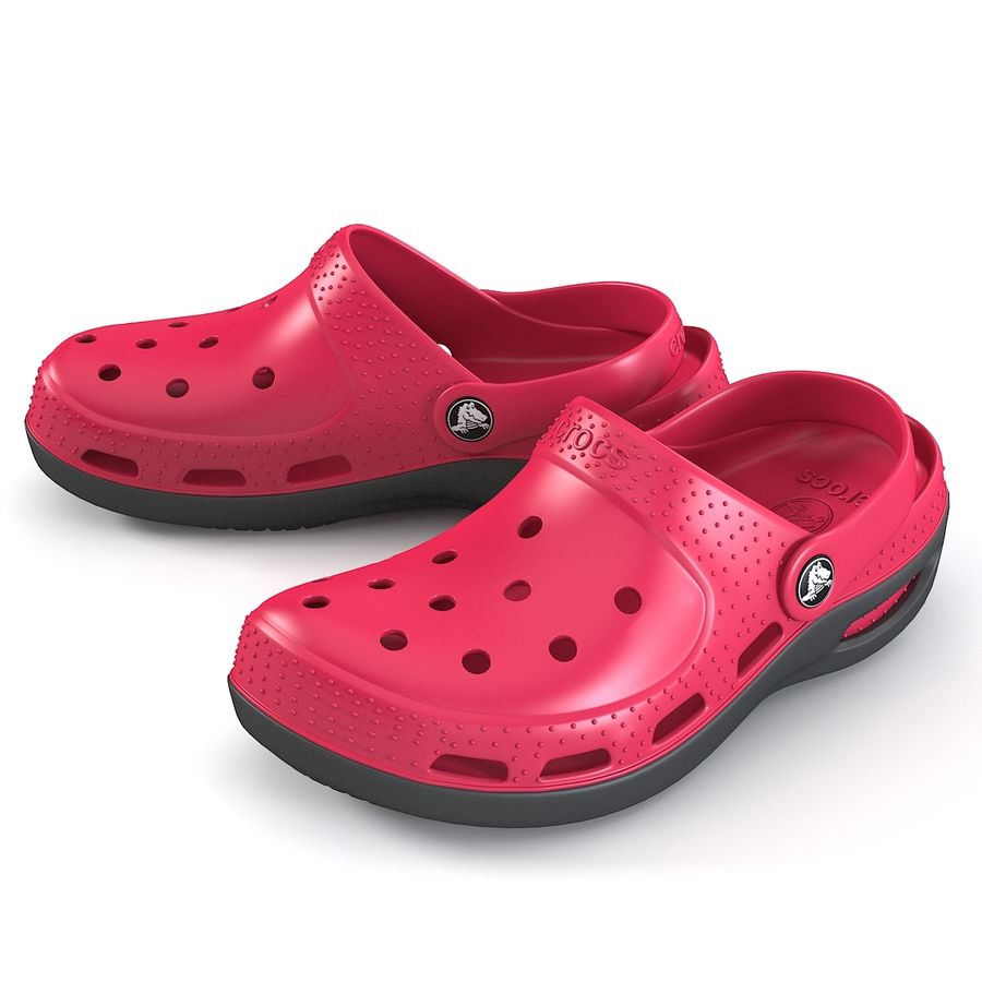 Crocs Shoes royalty-free 3d model - Preview no. 3
