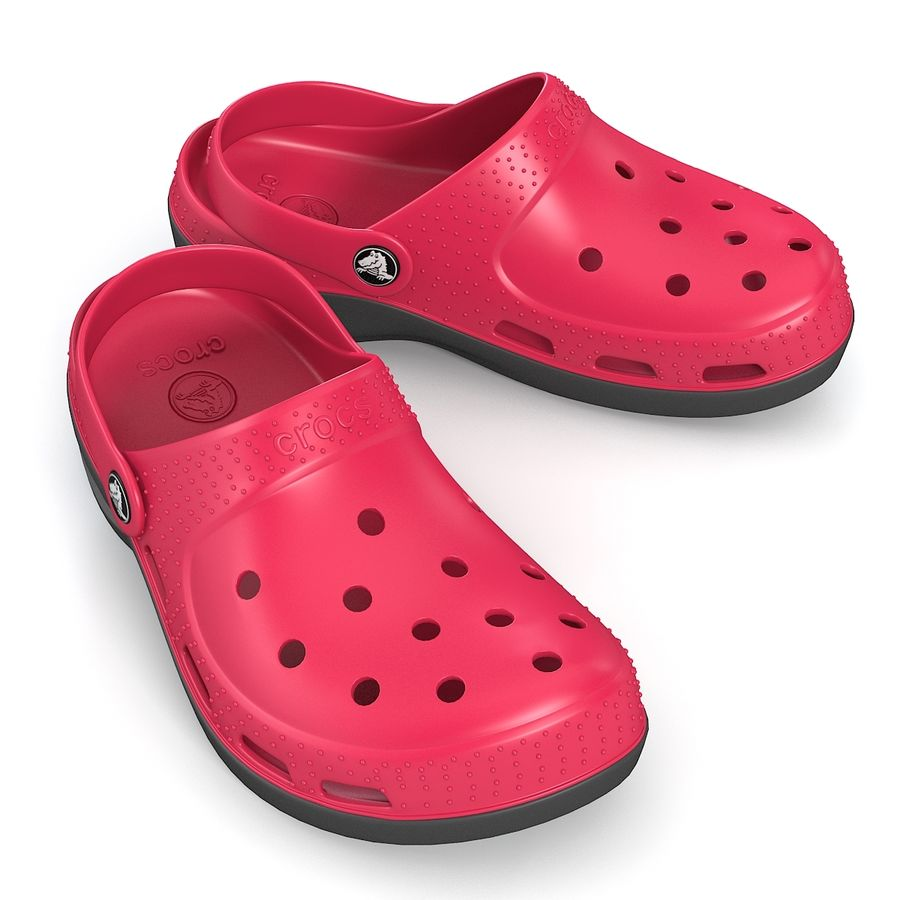 Crocs Shoes royalty-free 3d model - Preview no. 4