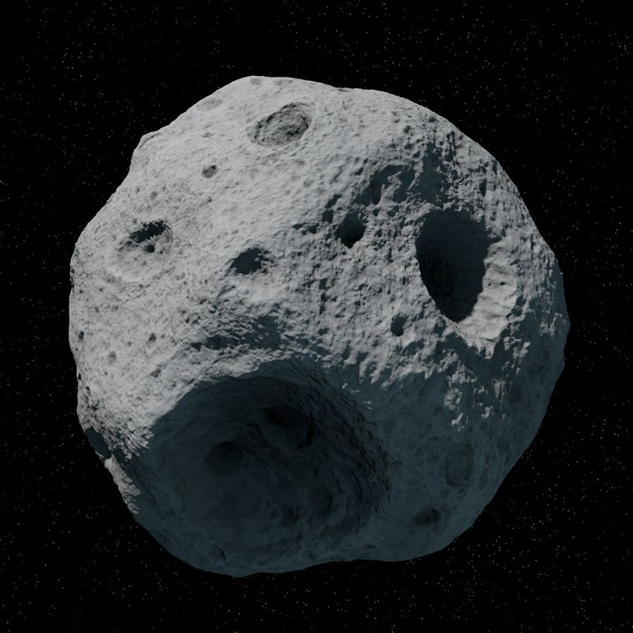 Asteroid 06 royalty-free 3d model - Preview no. 6