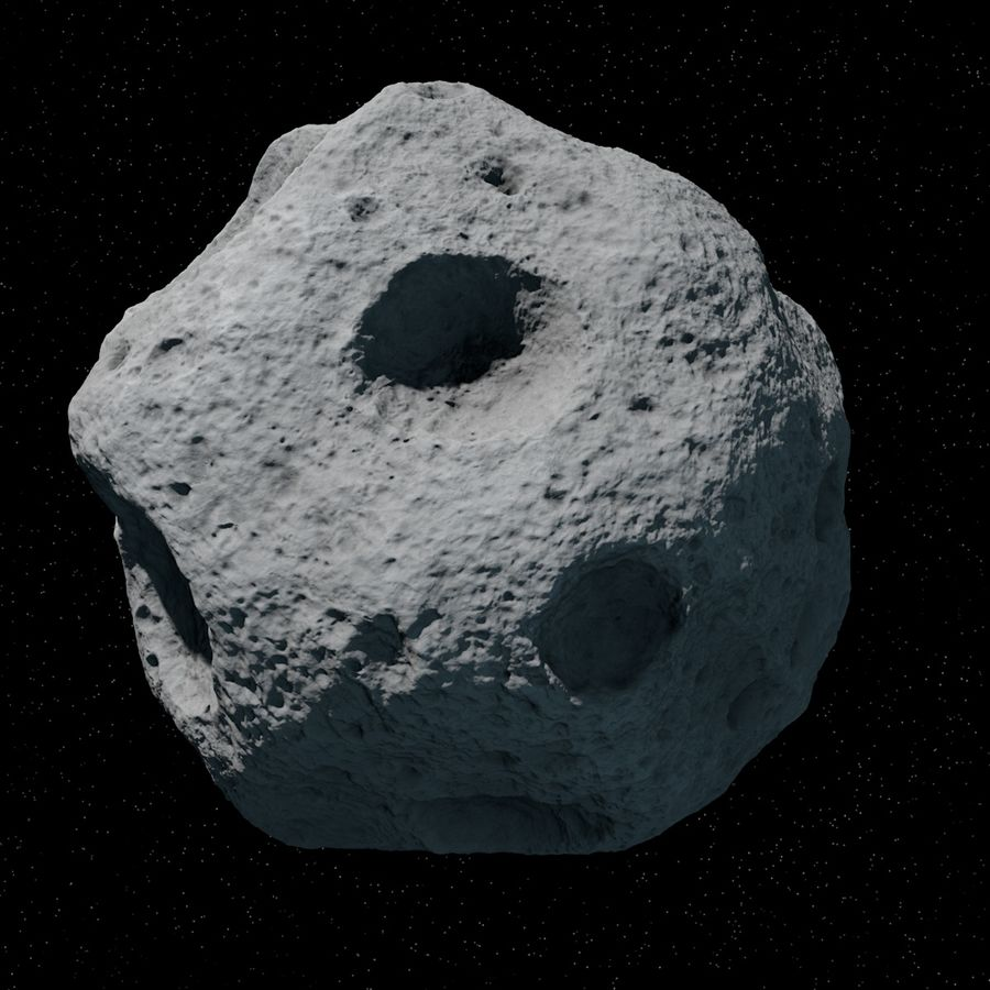 Asteroid 06 royalty-free 3d model - Preview no. 3