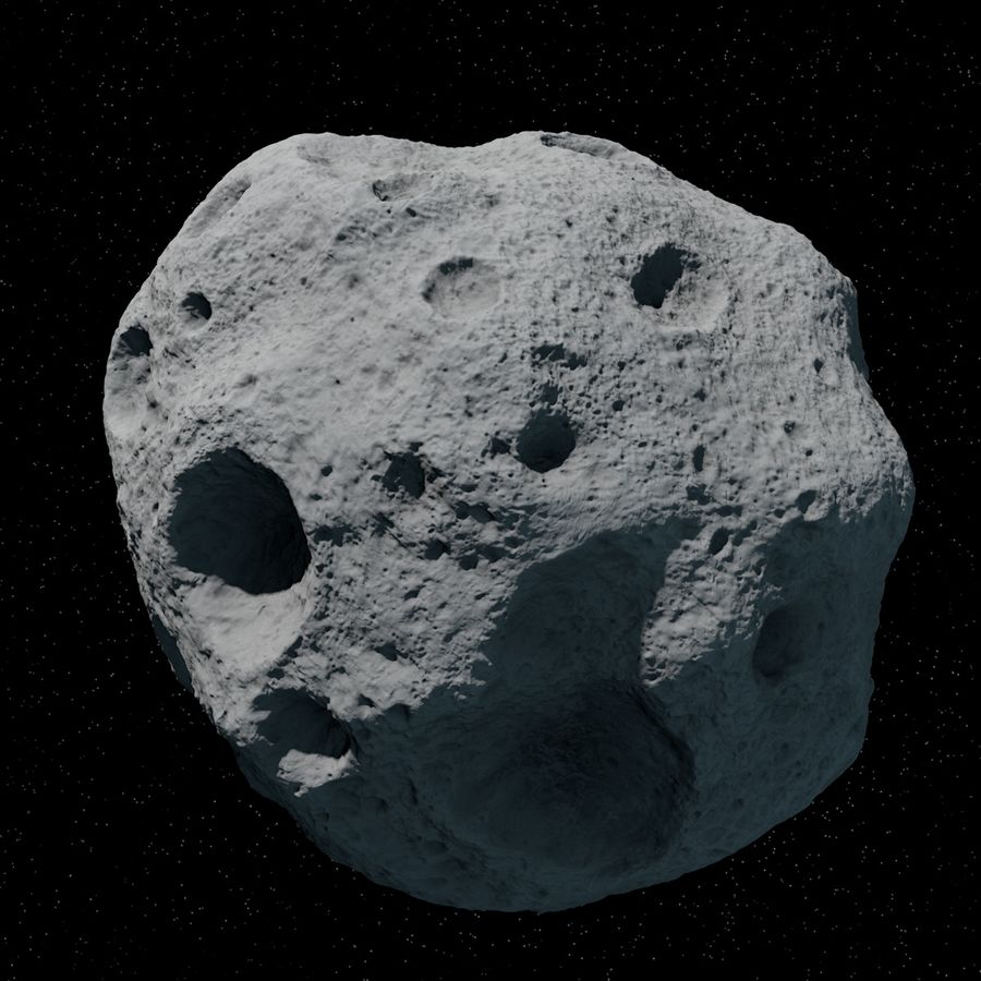Asteroid 06 royalty-free 3d model - Preview no. 2