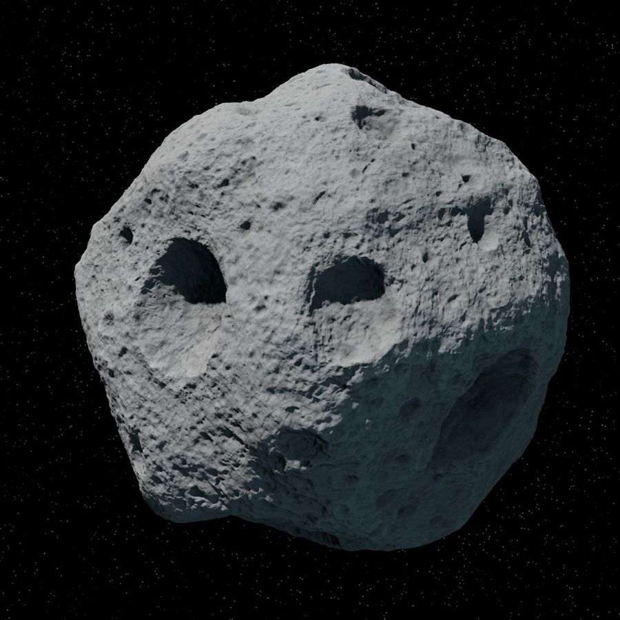 Asteroid 06 royalty-free 3d model - Preview no. 4