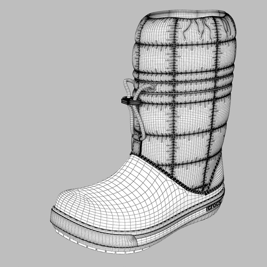 Crocs Women Win Boot royalty-free 3d model - Preview no. 6
