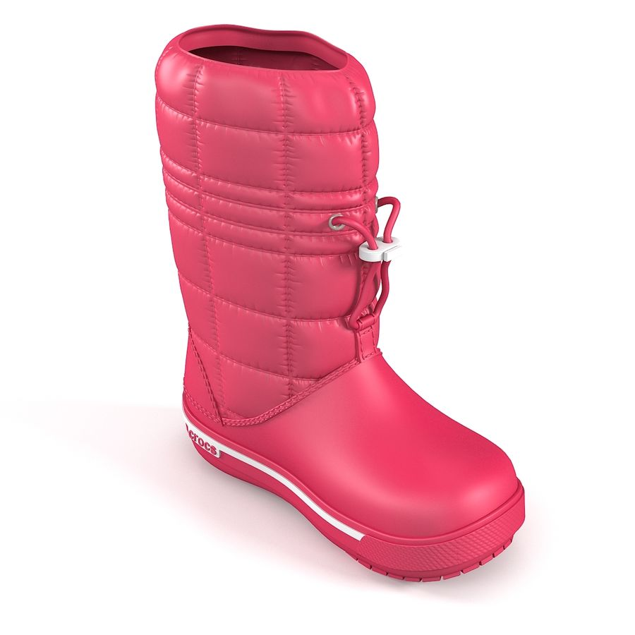Crocs Women Win Boot royalty-free 3d model - Preview no. 4