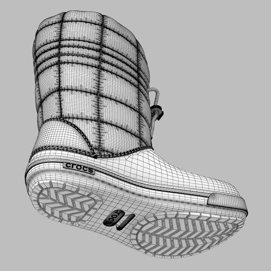 Crocs Women Win Boot royalty-free 3d model - Preview no. 7