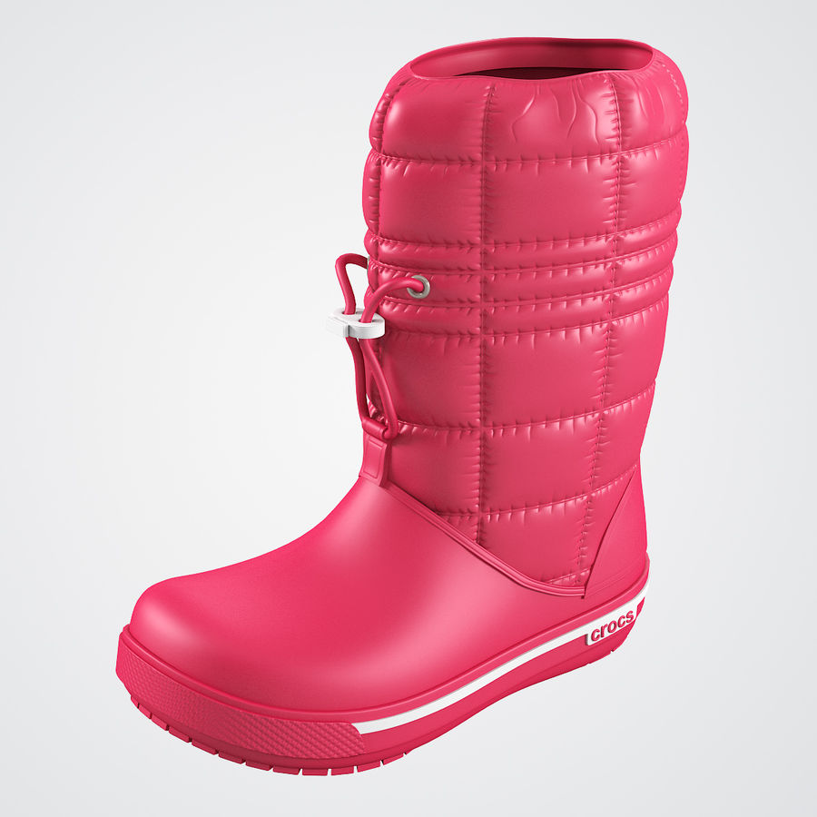 Crocs Women Win Boot royalty-free 3d model - Preview no. 2