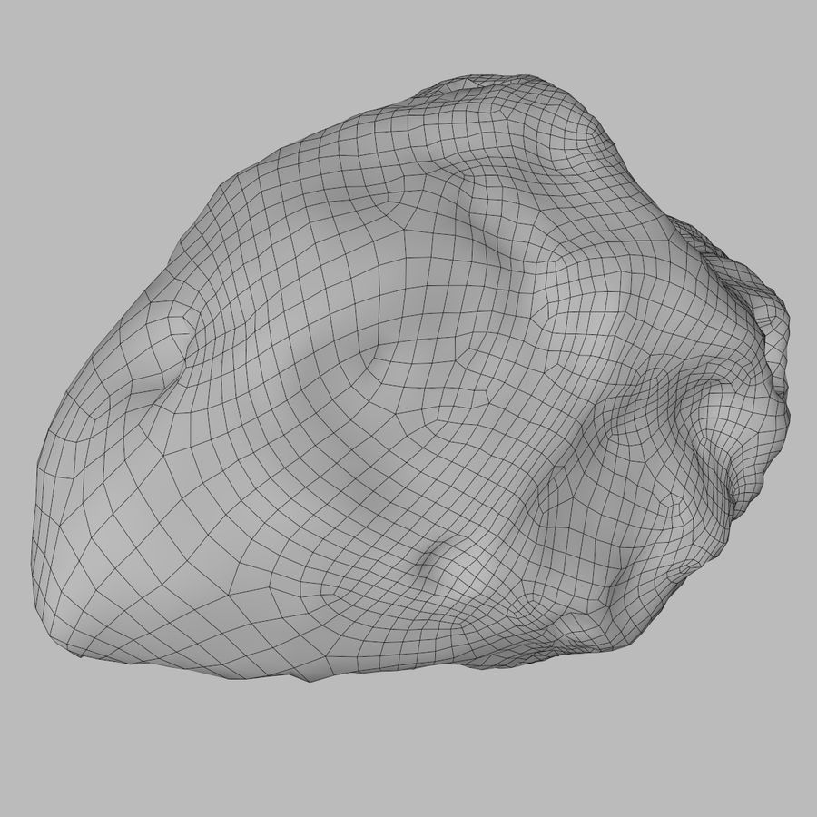 Asteroid 05 royalty-free 3d model - Preview no. 7
