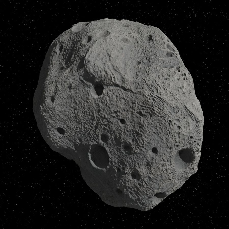 Asteroid 05 royalty-free 3d model - Preview no. 5