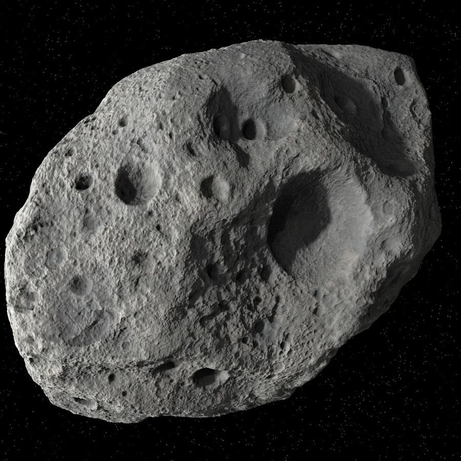 Asteroid 05 royalty-free 3d model - Preview no. 2