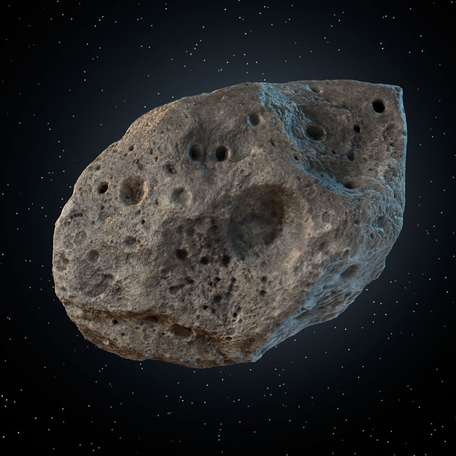 Asteroid 05 royalty-free 3d model - Preview no. 8