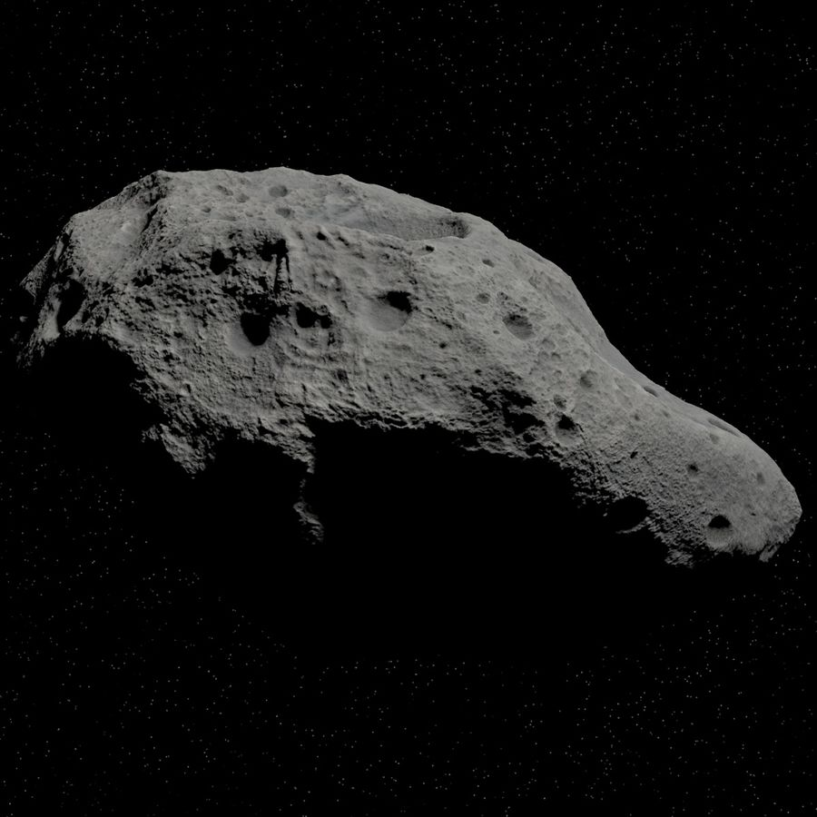 Asteroid 05 royalty-free 3d model - Preview no. 3