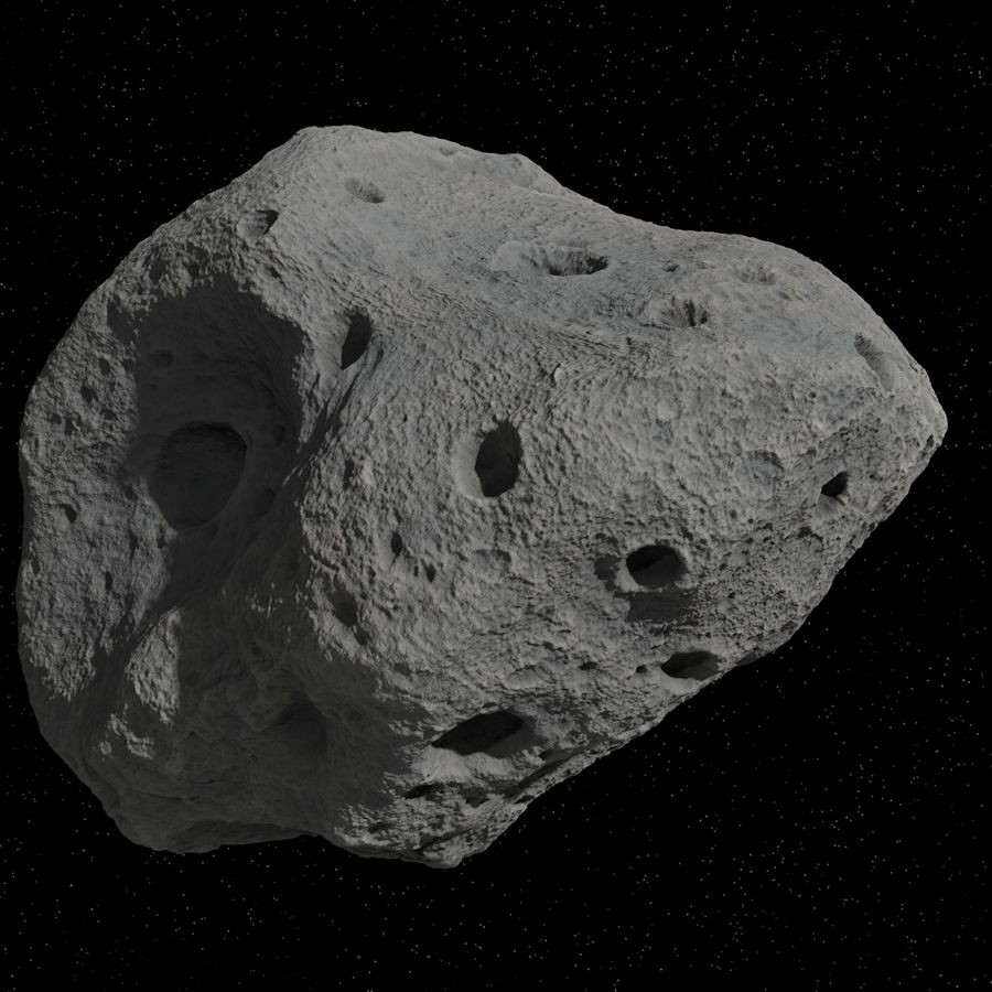 Asteroid 05 royalty-free 3d model - Preview no. 10