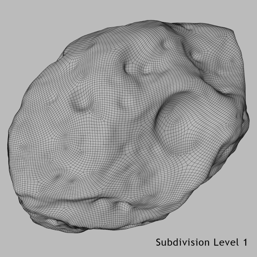 Asteroid 05 royalty-free 3d model - Preview no. 6