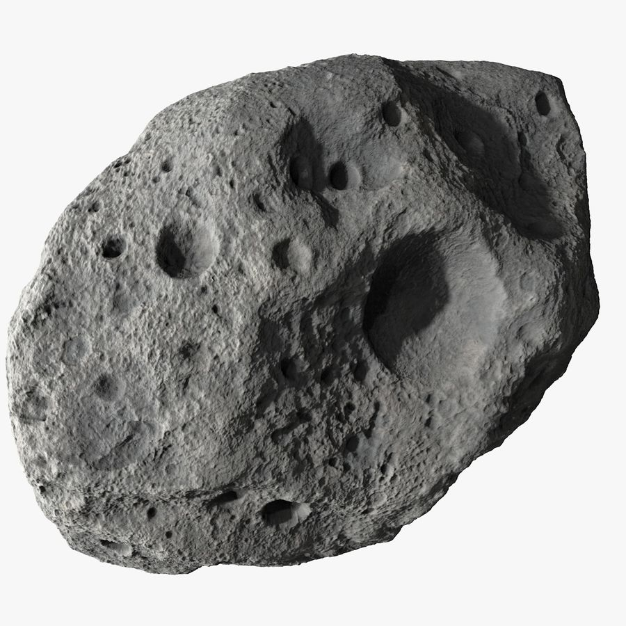 Asteroid 05 royalty-free 3d model - Preview no. 1