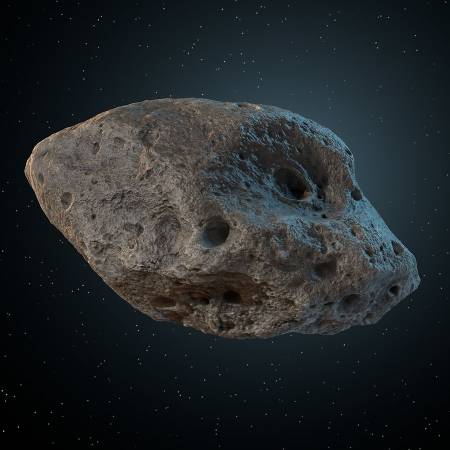 Asteroid 05 royalty-free 3d model - Preview no. 9