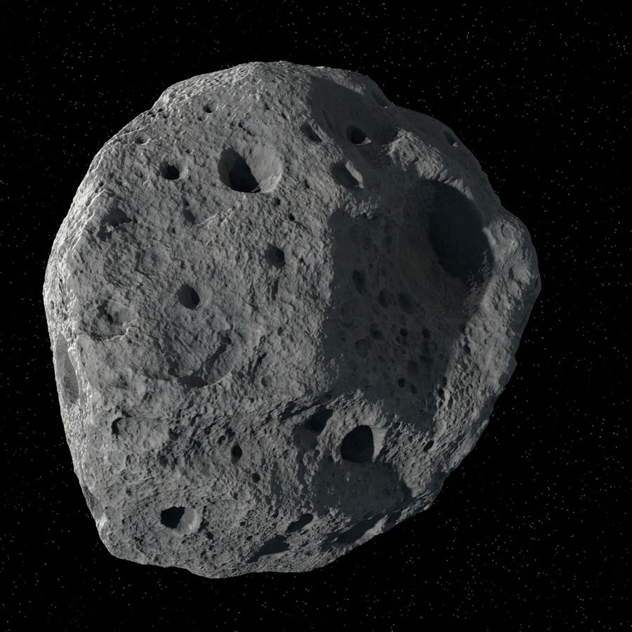 Asteroid 05 royalty-free 3d model - Preview no. 4