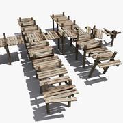 Costruttore di pontili in legno 3d model