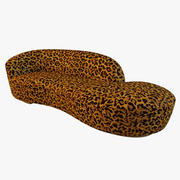 Sofá serpentino do leopardo 3d model