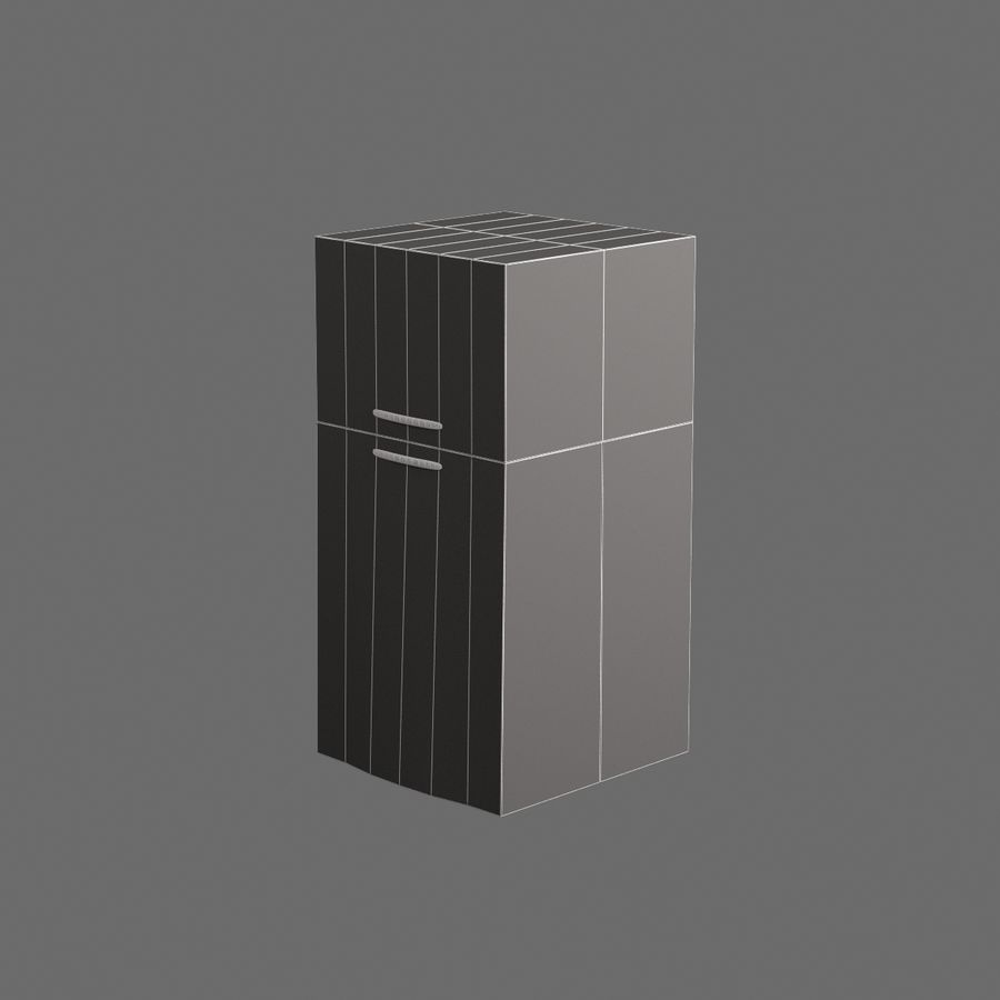 Cucina elettronica 007 royalty-free 3d model - Preview no. 6
