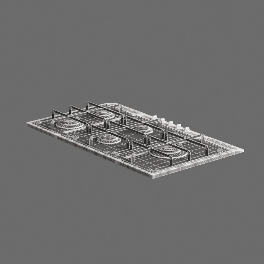 Cucina elettronica 010 royalty-free 3d model - Preview no. 8
