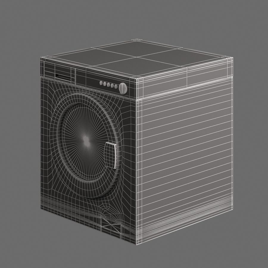 电子洗衣002 royalty-free 3d model - Preview no. 7