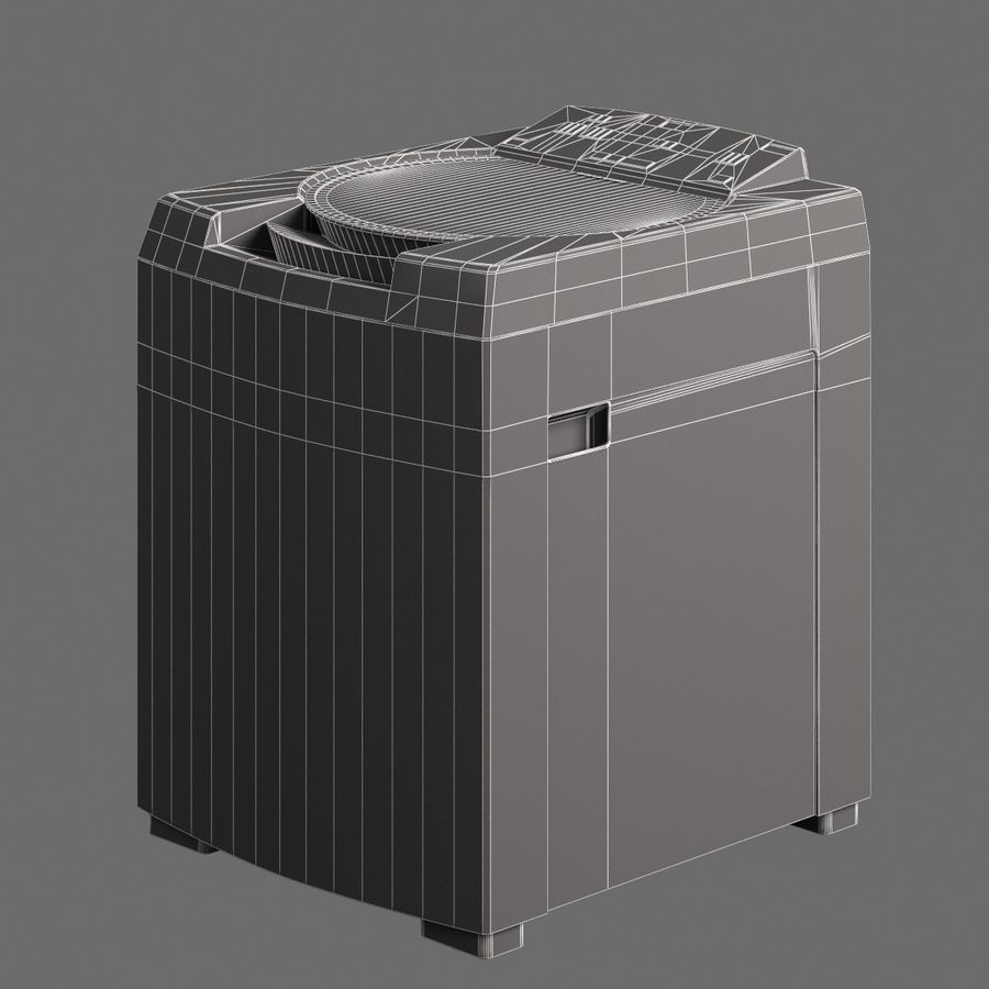 Lavanderia elettronica 004 royalty-free 3d model - Preview no. 7