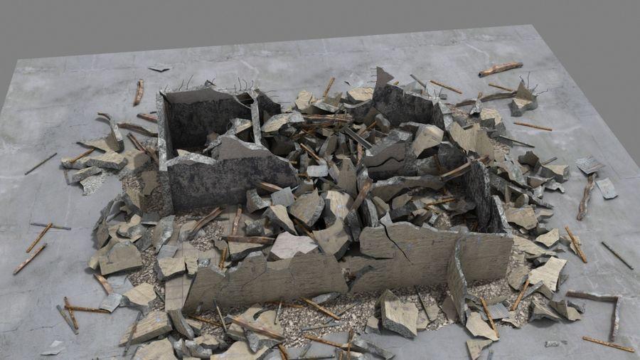 Edificio en ruinas royalty-free modelo 3d - Preview no. 1