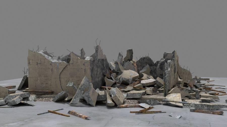 Edificio en ruinas royalty-free modelo 3d - Preview no. 2