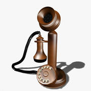 Vintage Metallic Telephone 3d model