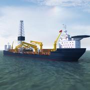 掘削船 3d model