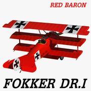 Fokker DR.I Red Baron 3d model