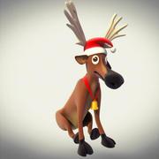 Ren geyiği Noel dekorasyonu 3d model