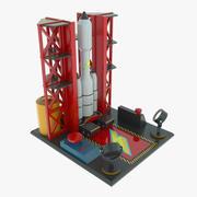 玩具火箭 3d model