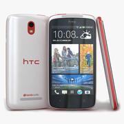 HTC Desire 500 White 3d model