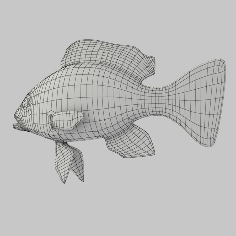Roter Schnappfisch royalty-free 3d model - Preview no. 7