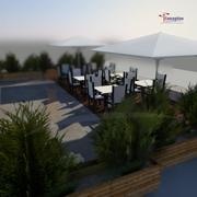 Exterior chairs 3d model