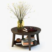 Pottery Barn Metropolitan Round Coffee Table 3d model
