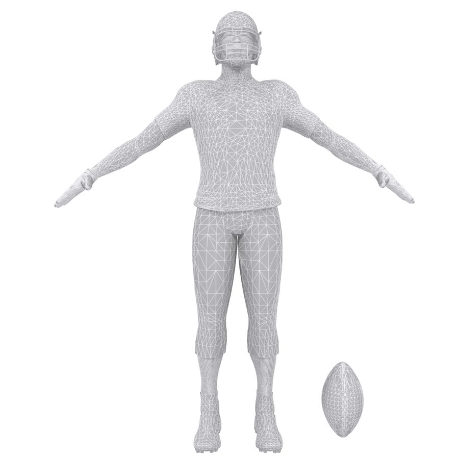 Football player custom royalty-free 3d model - Preview no. 9