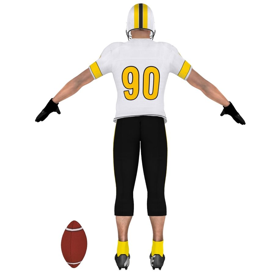 Football player custom royalty-free 3d model - Preview no. 8