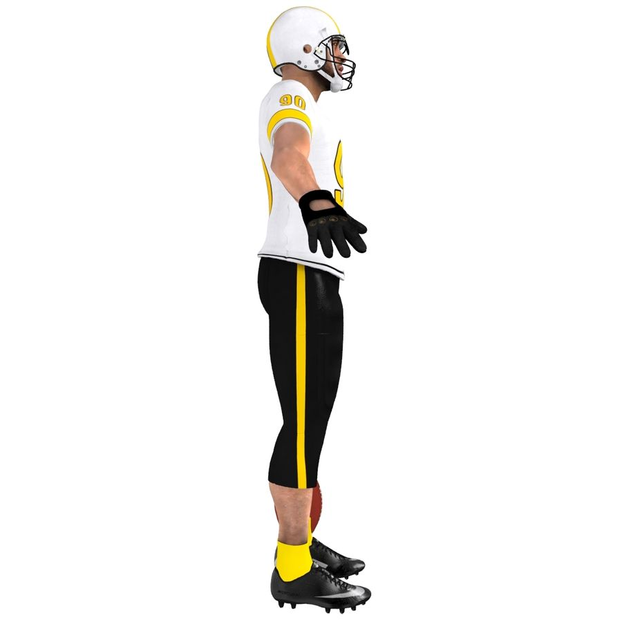 Football player custom royalty-free 3d model - Preview no. 7