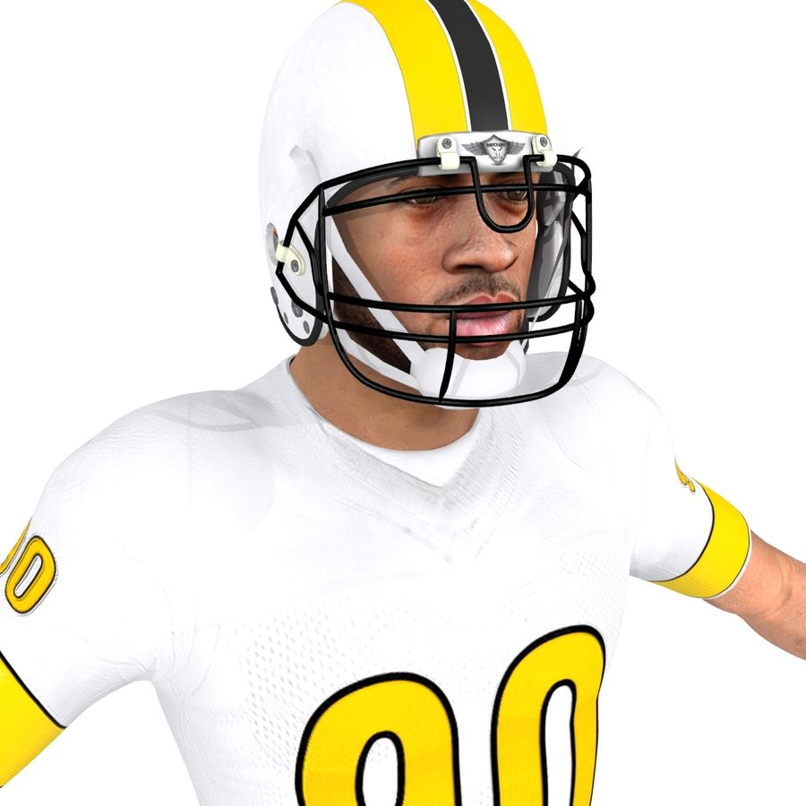 Football player custom royalty-free 3d model - Preview no. 6