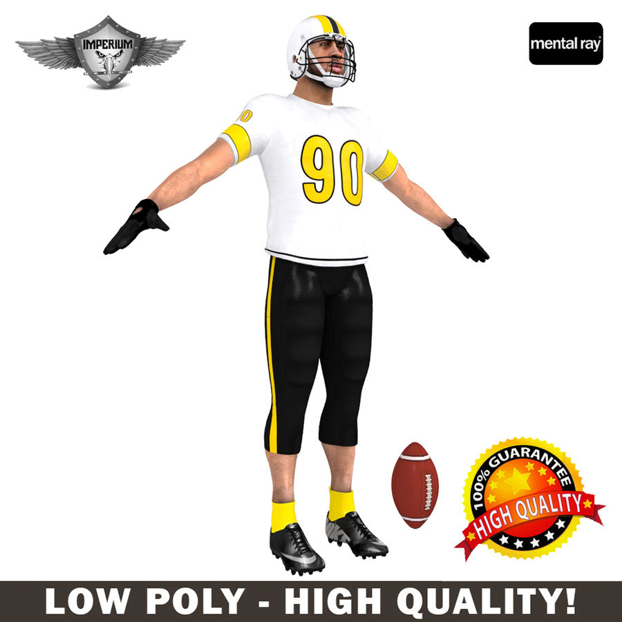 Football player custom royalty-free 3d model - Preview no. 1