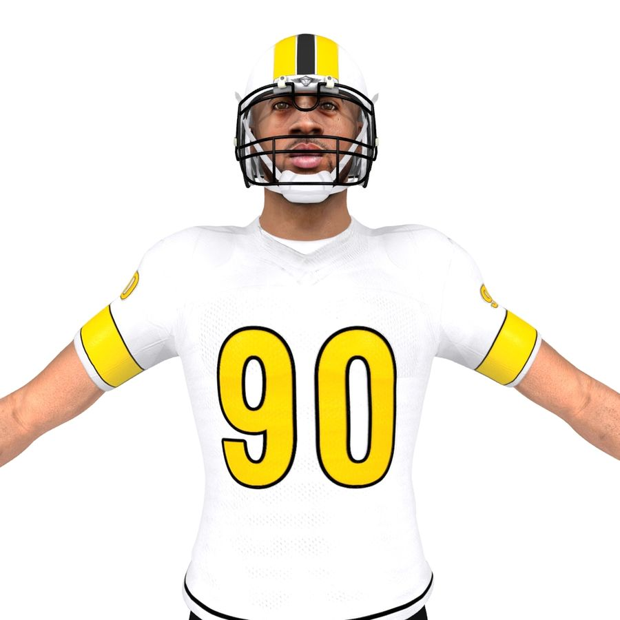 Football player custom royalty-free 3d model - Preview no. 5