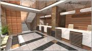 Resepsiyon, banka, ofis, hükümet binası, oturma salonu 3d model